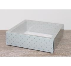 Коробка с прозрачной крышкой 175*175*50 мм, дизайн 2020-6 , с цветным дном