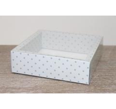 Коробка с прозрачной крышкой 175*175*50 мм, дизайн 2020-13 , с цветным дном