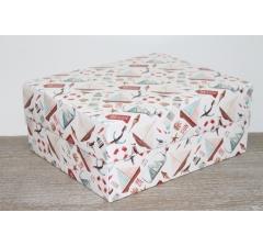 Коробка подарочная 280*230*120 мм, дизайн 2020-9, полноцветная