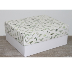 Коробка подарочная 280*230*120 мм, дизайн 2020-8, с белым дном