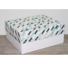 Коробка подарочная 280*230*120 мм, дизайн 2020-2, с белым дном