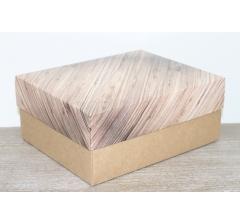Коробка подарочная 280*230*120 мм, дизайн 2020-1, с крафт дном