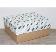 Коробка подарочная 280*230*120 мм, дизайн 2020-2, с крафт дном