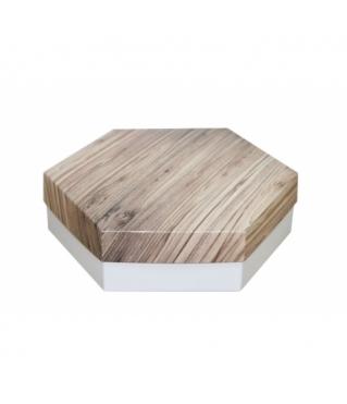 Коробка подарочная 200*200*60 мм, дизайн 2020-5, белое дно