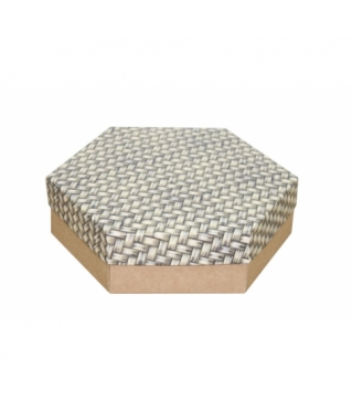 Коробка подарочная 200*200*60 мм, дизайн 2020-12, крафт дно