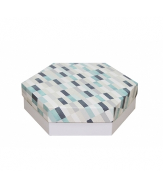 Коробка подарочная 200*200*60 мм, дизайн 2020-10, белое дно