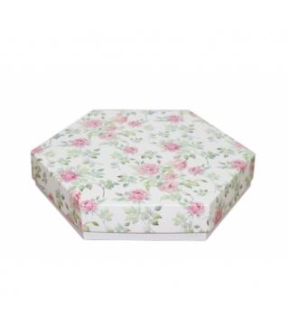 Коробка подарочная 200*200*40 мм, дизайн 2020-2, белое дно