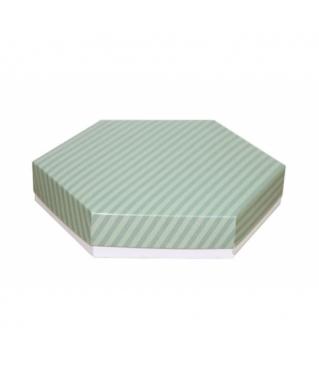 Коробка подарочная 200*200*40 мм, дизайн 2020-7, белое дно