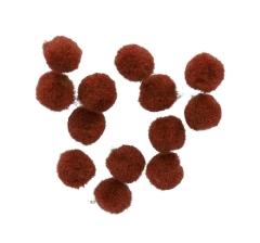 Набор помпонов (100гр) 1 см, коричневый