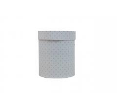 Коробка картонная круглая с рисунком 150*180 дизайн  109