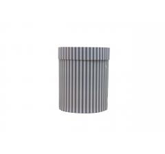 Коробка картонная круглая с рисунком 150*180 дизайн  132