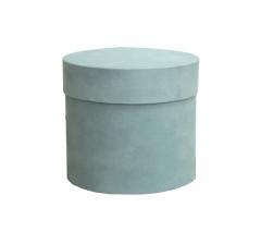 Коробка бархатная-люкс, d-110, h-120, голубая