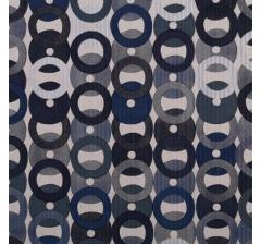 Бумага гофрированная 50 см/10 м, серо-синие кольца