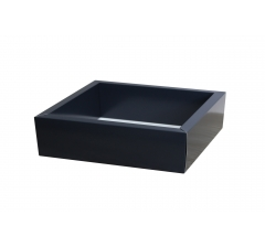 Коробка 225*225*55 мм с прозрачной крышкой, темно-синее дно