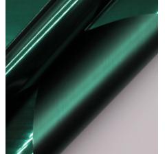 "Корейская пленка ""Зеркальная"" 60 см/5 м, темно-зеленая"