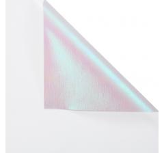 "Корейская пленка ""Мерцающий хамелеон"" 60 см/5 м, белая"