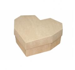 Коробка-сердце 270*260*100 мм, крафт