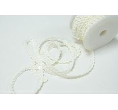 Пайетки в рулоне 6 мм/10 м, белые