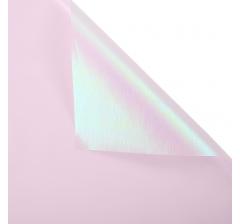 "Корейская пленка ""Мерцающий хамелеон"" 60 см/5 м, светло-розовая"