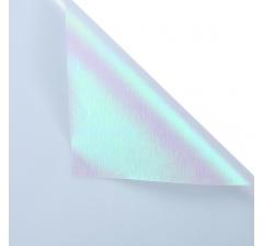 "Корейская пленка ""Мерцающий хамелеон"" 60 см/5 м, светло-голубая"
