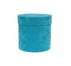 Коробка бархатная-люкс, d-150, h-150, голубо-бирюзовый