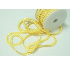 Пайетки в рулоне 6 мм/10 м, желтые