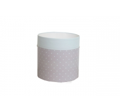 Коробка круглая картонная (без крышки) 150*150 дизайн 112