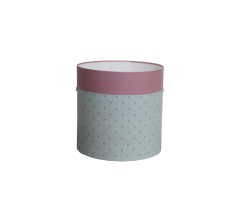 Коробка круглая картонная (без крышки) 150*150 дизайн 147