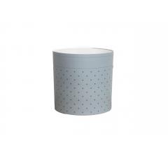 Коробка круглая картонная (без крышки) 150*150 дизайн 160