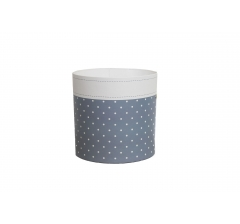 Коробка круглая картонная (без крышки) 150*150 дизайн 165