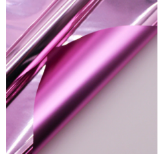 "Корейская пленка ""Зеркальная"" 60 см/5 м, розовая"