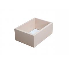 Коробка 200*140*80 мм с прозрачной крышкой, розовое дно