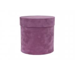 Коробка бархатная-люкс, d-150, h-150, лиловый