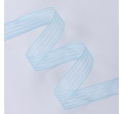 """Лента тканевая """"Полосы"""" 25 мм/ 25 ярдов, голубая"""
