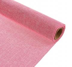 Джутовая ткань 50 см/ 4,5 м, малиновый