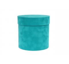 Коробка бархатная-люкс, d-150, h-150, бирюзовый