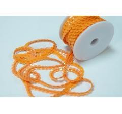 Пайетки в рулоне 6 мм/10 м, оранжевые