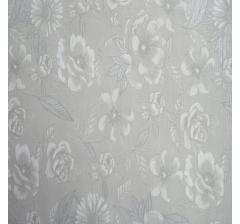 Бумага гофрированная 50 см/10 м, серая в цветочки