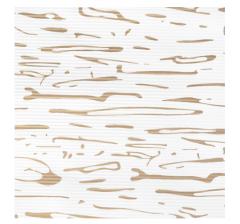 Бумага гофрированная 50 см/10 м, золотые линии на белом