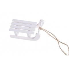 Санки деревянные белые, набор из 4-ех