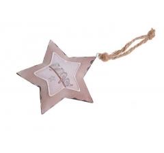Звезда металлическая с птичками 10 см