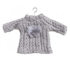 Елочная игрушка: свитер на вешалке 18*10 см