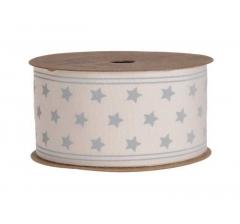 Лента декоративная в серые звезды 4cm x 5m