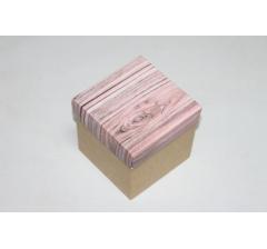 Коробка 110*110*110 мм НГ, крафт дно,дизайн 3