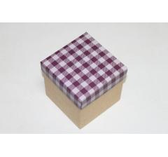 Коробка 110*110*110 мм НГ, крафт дно,дизайн 4