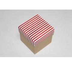 Коробка 110*110*110 мм НГ, крафт дно,дизайн 30