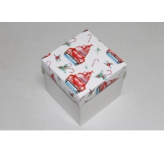 Коробка 110*110*110 мм НГ, белое дно,дизайн 34