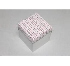 Коробка 110*110*110 мм НГ, белое дно,дизайн 35