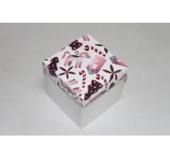 Коробка 110*110*110 мм НГ, белое дно,дизайн 36