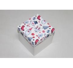 Коробка 110*110*110 мм НГ, белое дно,дизайн 39